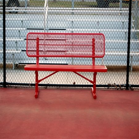 UltraPlay Thermoplastic Bench with Back